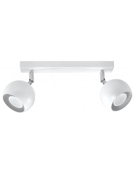 lampa-de-tavan-oculare-2-otel-alb